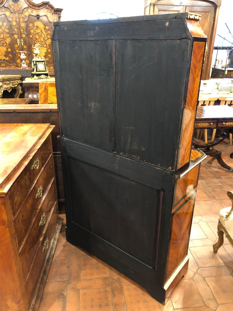 19th Century Napoleon III Ebony Rosewood Inlaid France Cabinet Desk, 1850s For Sale 13