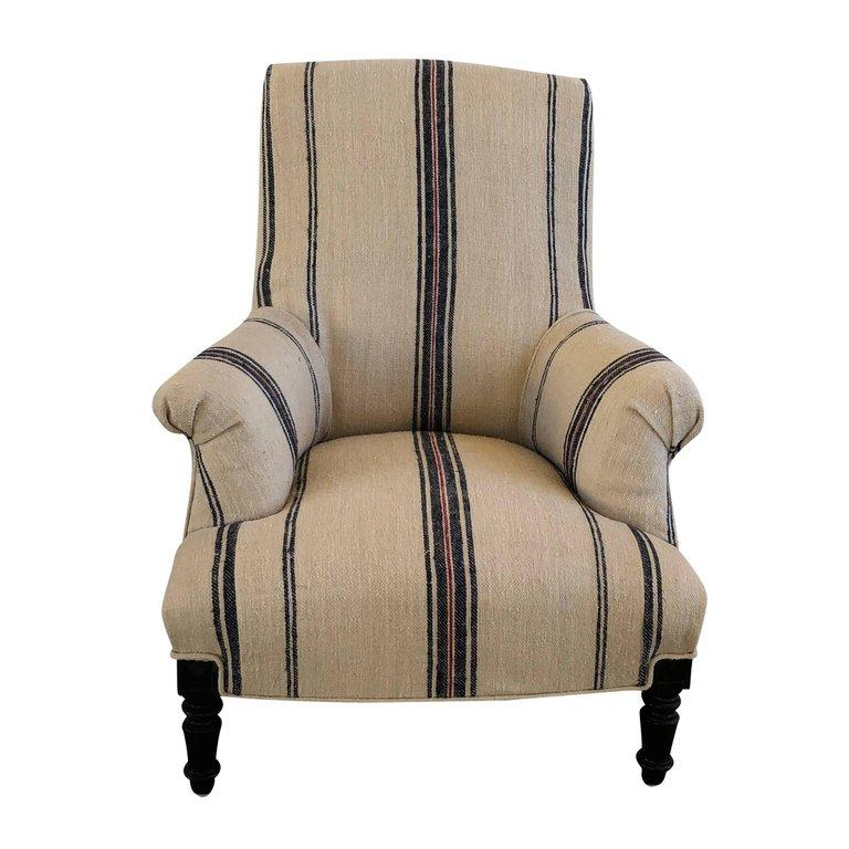 19th Century Napoleon III Fauteuil, French Armchair In Good Condition For Sale In West Palm Beach, FL