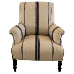 19th Century Napoleon III Fauteuil, French Armchair