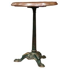 19th Century Napoleon III French Iron and Wood Gueridon Pedestal Table