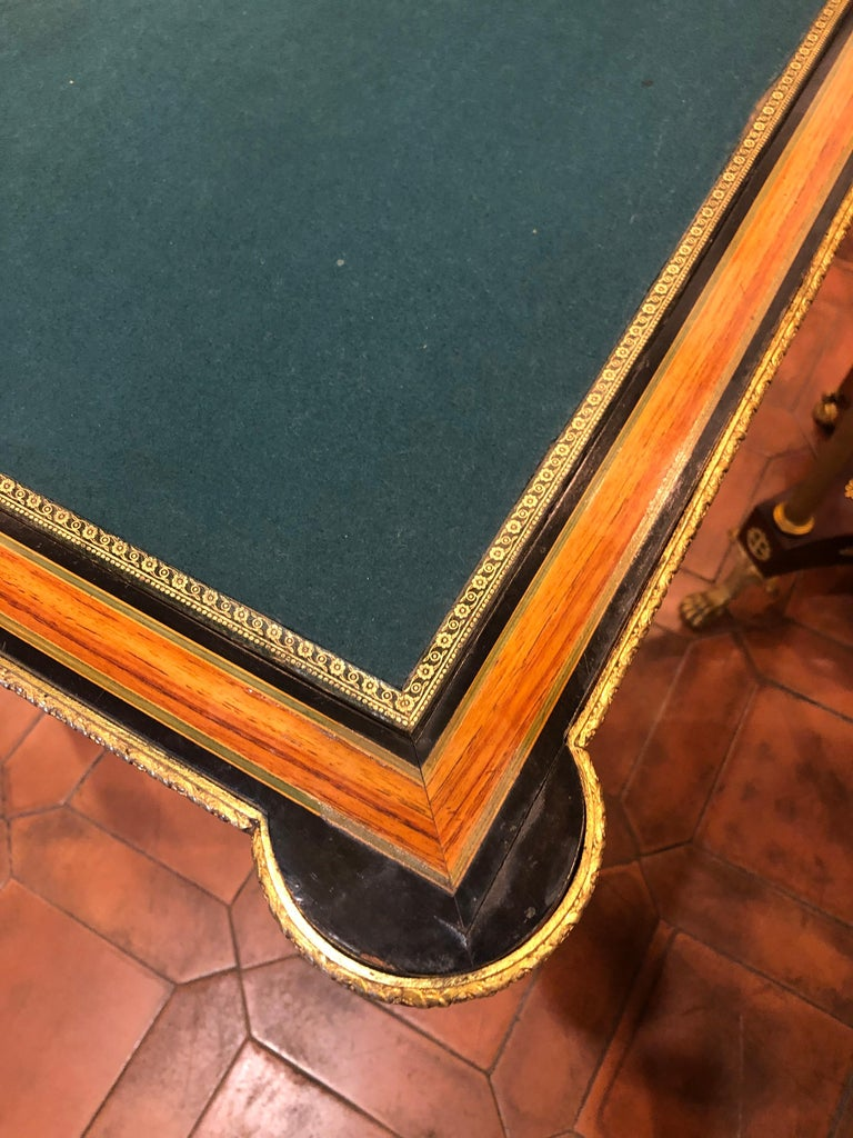 19th Century Napoleon III French Thuya Marquetry Card Table, 1860s For Sale 3