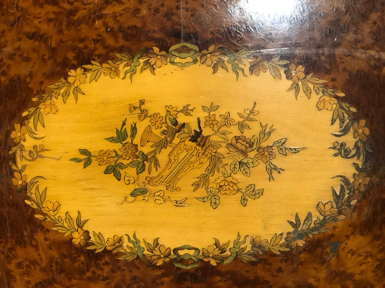 19th Century Napoleon III French Thuya Marquetry Card Table, 1860s For Sale 4