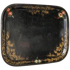 19th Century Napoleon III Hand Painted Tole Tray