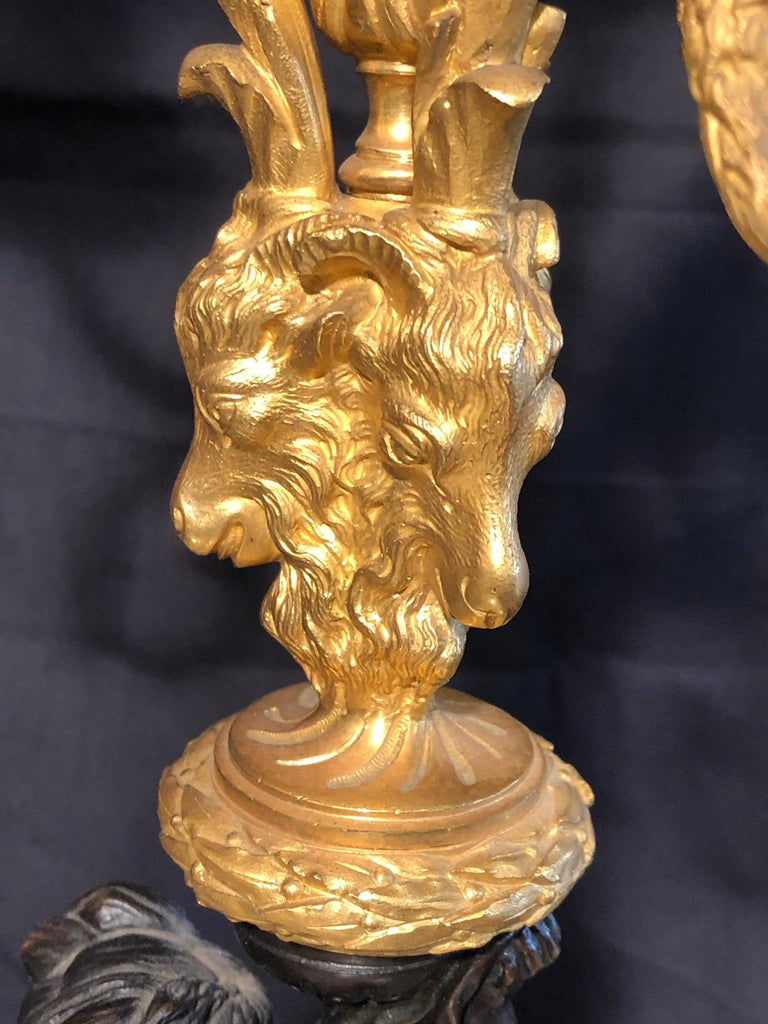 19th Century Napoleon III Marble and Bronze Mantel Clock by H. Journet & Cie For Sale 6