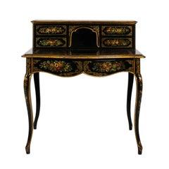 19th Century Napoleon III Papier Mâché Desk