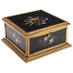 19th Century Napoleon III Pietra Dura Jewelry Box