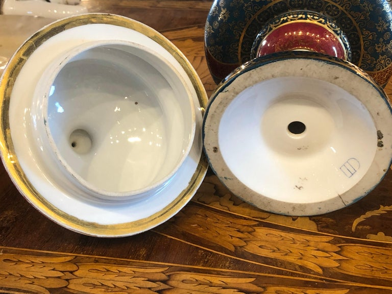 19th Century Napoleon III Porcelain Vases Urn Royal Vienna Painted, 1870s For Sale 10