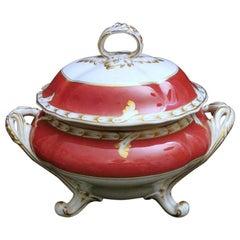 Porcelain De Paris Napoleon III  French Soup Tureen
