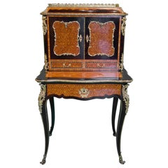 19th Century French Napoleon III Rosewood and Kingwood  Writing Table, 1850s
