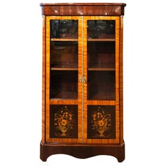 19th Century Napoleon III Rosewood Inlay  French Cabinet Vetrines, 1860s
