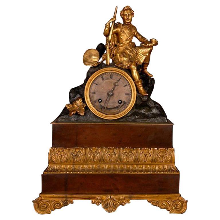 19th Century, Napoleon III Style Bronze Pendulum Chimney Clock
