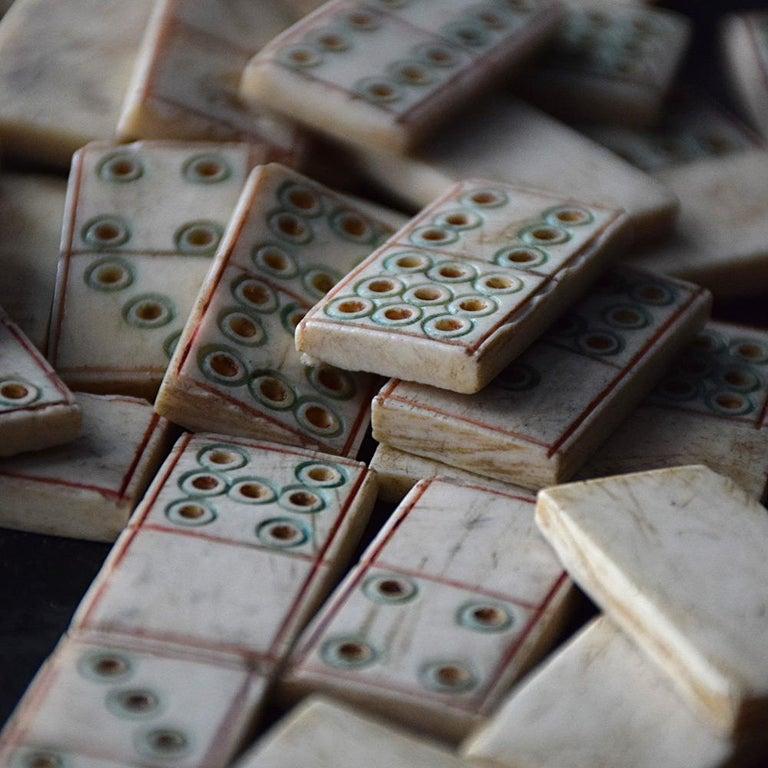 Hand-Carved 19th Century Napoleonic Prisoner of War Dominos Set