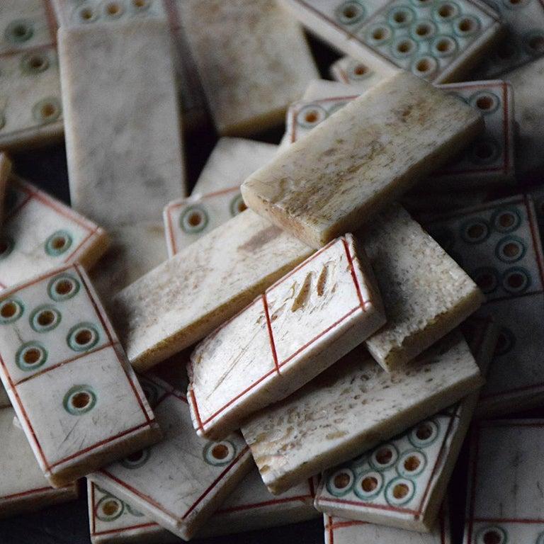Bone 19th Century Napoleonic Prisoner of War Dominos Set