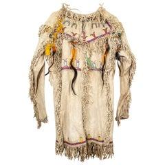 19th Century Native American Hidatsa Arikara Medicine Shirt