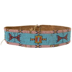 19th Century Native American Yanktonai Sioux Beaded Belt