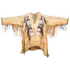 19th Century Native Sioux Beaded War Shirt
