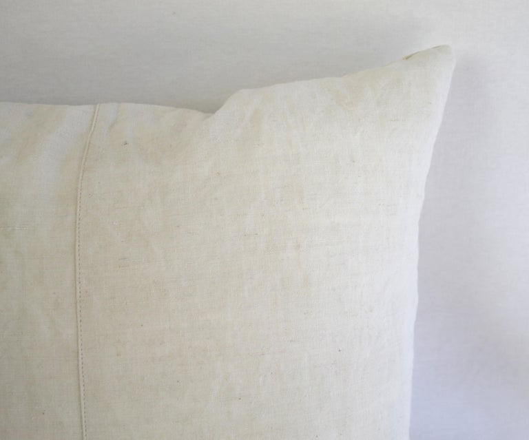 19th Century Natural French Ticking Pillow For Sale 5