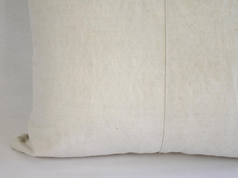 19th Century Natural French Ticking Pillow For Sale 6
