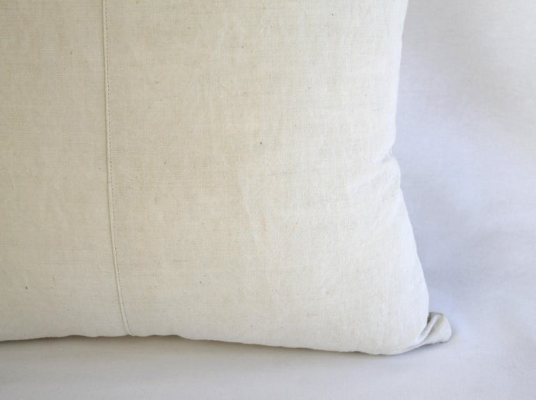 19th Century Natural French Ticking Pillow For Sale 7