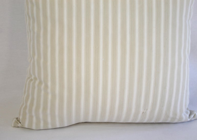 19th Century Natural French Ticking Pillow In Good Condition For Sale In Brea, CA