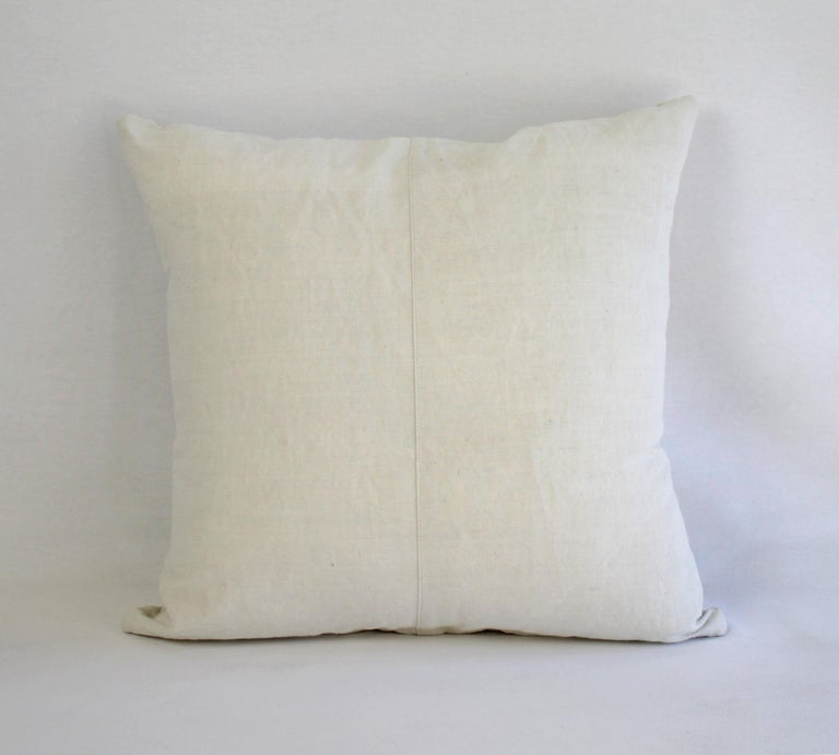 19th Century Natural French Ticking Pillow For Sale 3
