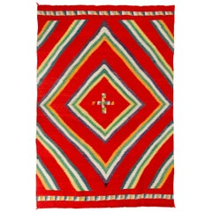 19th Century Navajo Germantown 'Eye Dazzler' Woven Rug or Wall Hanging