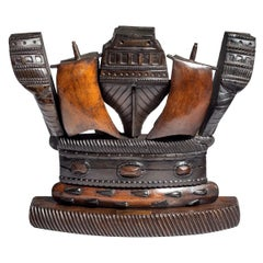 19th Century Naval Crown Constructed from Timber and Copper