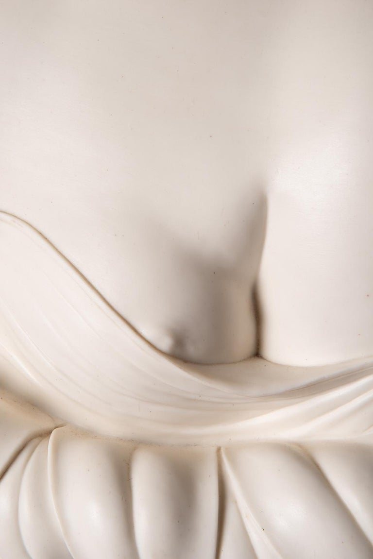 19th Century Neoclassical Female Parian Bust In Good Condition For Sale In Brighton, Sussex