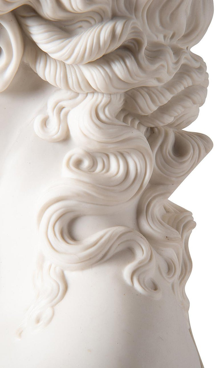 19th Century Neoclassical Female Parian Bust For Sale 2