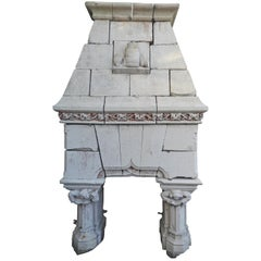 19th Century Neo Gothic Fireplace from Wine Estate