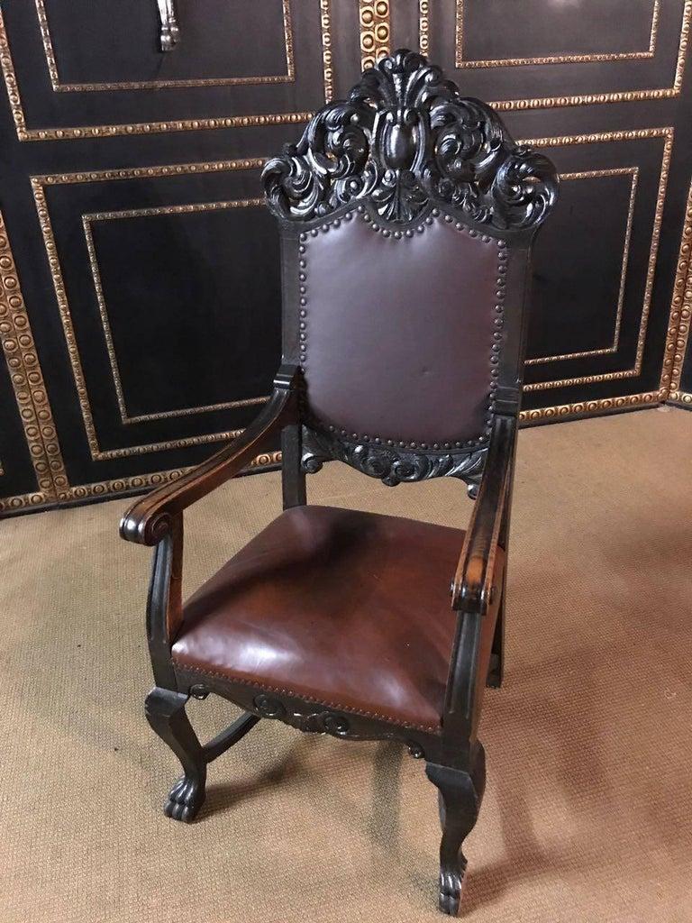 Renaissance Revival 19th Century, Neo Renaissance Armchair For Sale