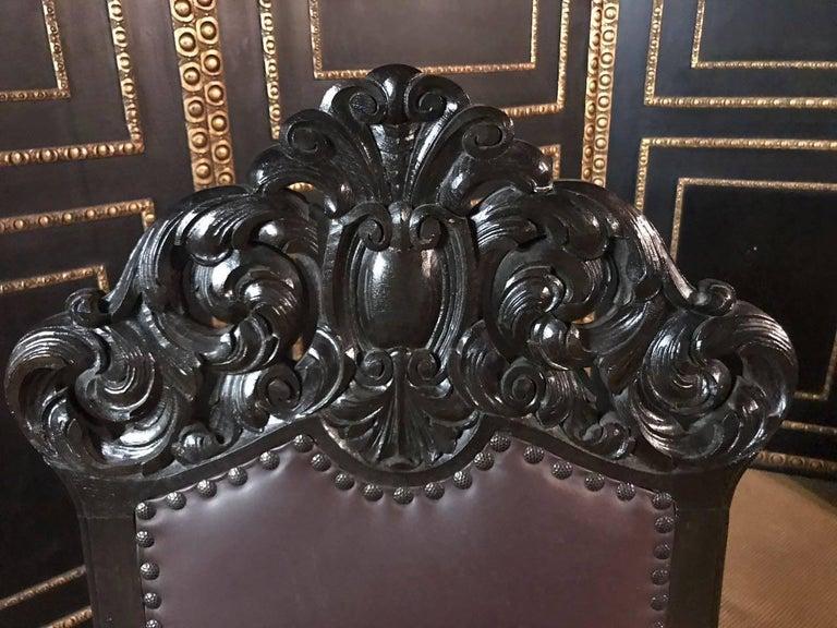 19th Century, Neo Renaissance Armchair In Good Condition For Sale In Berlin, DE