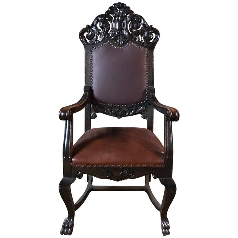 19th Century, Neo Renaissance Armchair For Sale