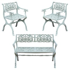 19th Century Neoclassical American Iron Furniture Suite