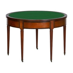 19th Century Neoclassical Antique Fruitwood Card Games Table with Triple Top