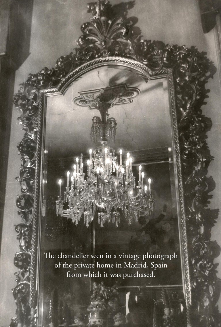 19th Century Neoclassical Baccarat Crystal and Glass 36-Light Crystal Chandelier For Sale 7