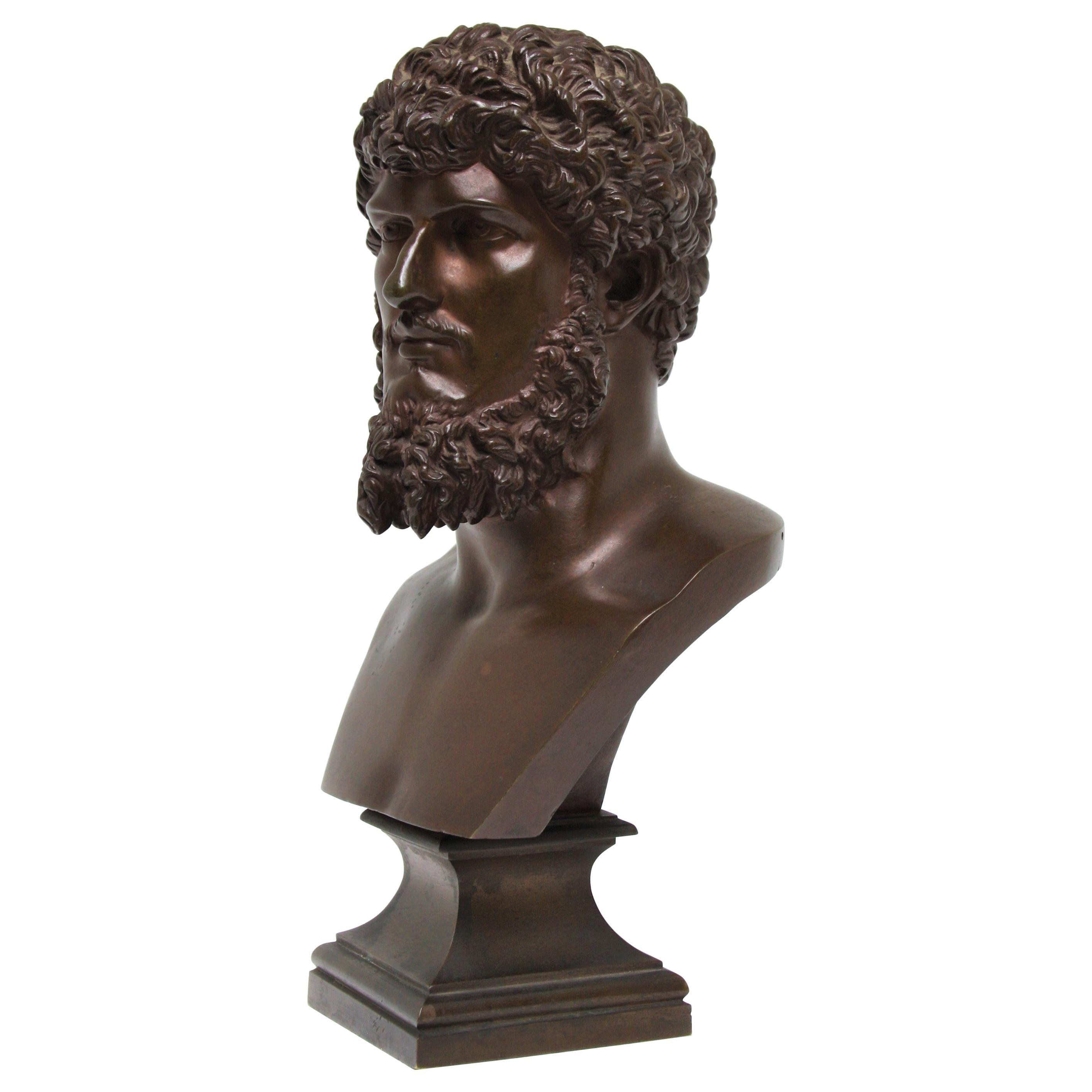 19th Century Neoclassical Bronze Bust of Lucius Verus