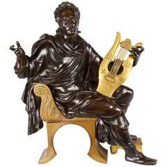 19th Century Neoclassical Bronze Musician