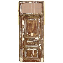 19th Century Neoclassical Exterior Door with Transom and Jamb