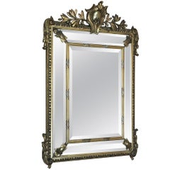 19th Century Neoclassical French Napoleon III Period Gilded Mirror
