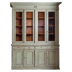 19th Century Neoclassical French Pinewood Pharmacy Bookcases