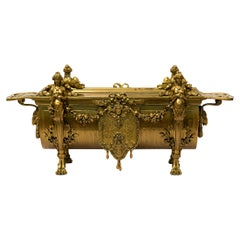 19th Century Neoclassical Gilt Bronze Jardinière Centrepiece