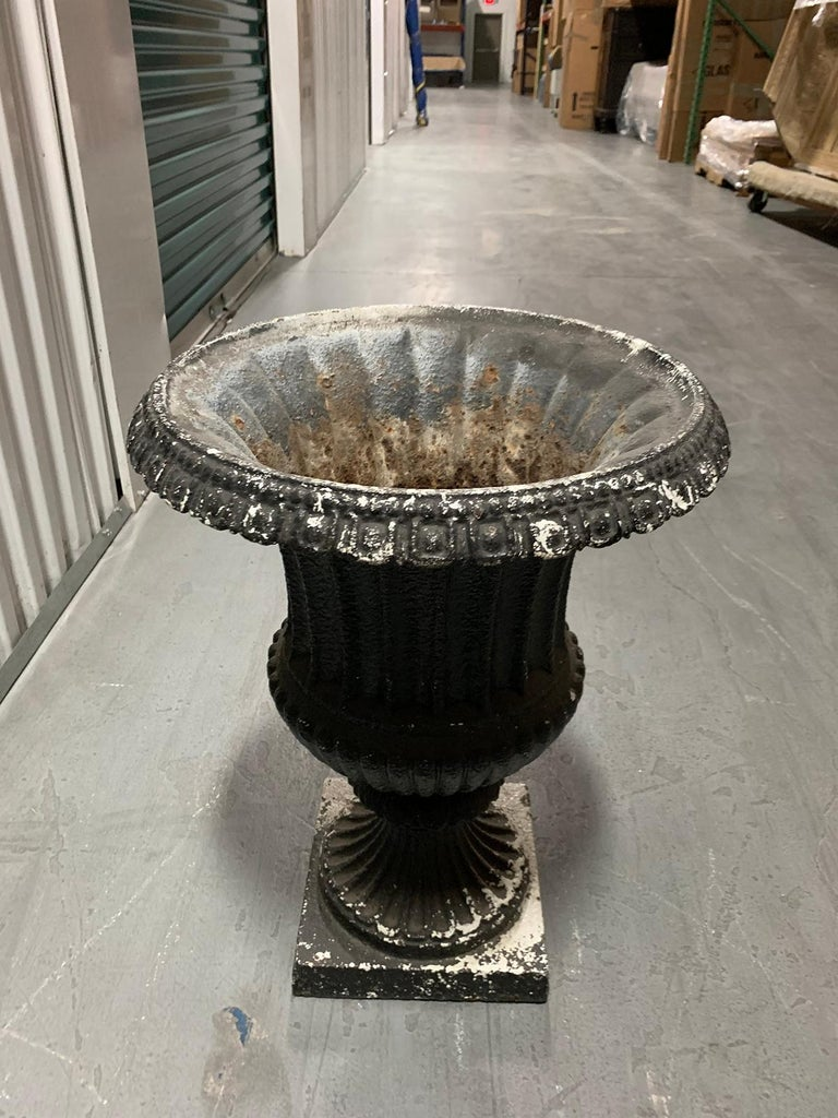19th Century Neoclassical Iron Urn For Sale 5