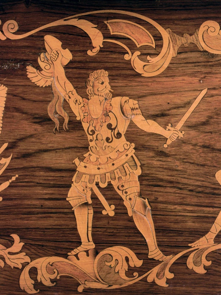 Inlay 19th century Neoclassical Marquetry Center Table