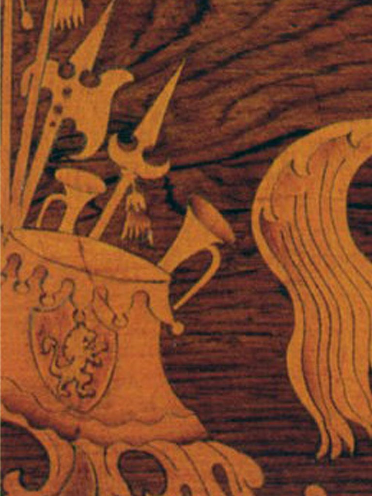 19th century Neoclassical Marquetry Center Table In Good Condition In Troy, NY