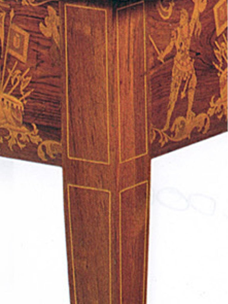 19th Century 19th century Neoclassical Marquetry Center Table