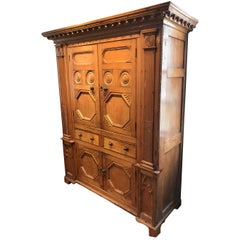 19th Century Neoclassical Revival Irish Cabinet