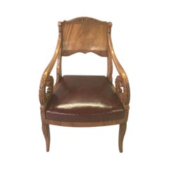 19th Century Neoclassical Russian Armchair