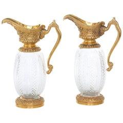 19th Century Neoclassical Style Bronze Ormolu Ewers