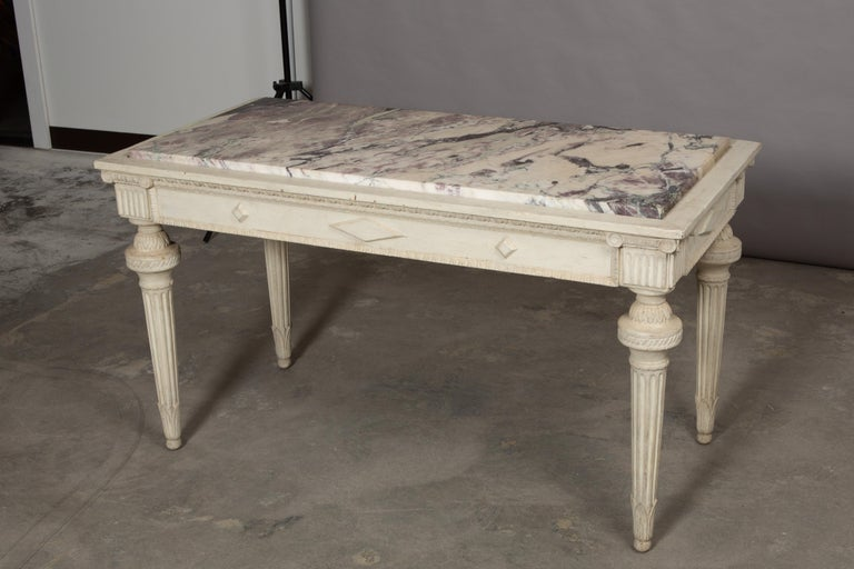French 19th Century Neoclassical Style Marble-Top Table For Sale